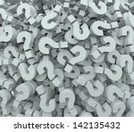 a background of question mark... | Shutterstock . vector #142135432