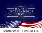 happy independence day   fourth ... | Shutterstock .eps vector #1421356118