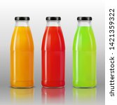3d realistic transparent juice... | Shutterstock .eps vector #1421359322