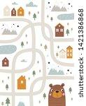 scandinavian vector maze....   Shutterstock .eps vector #1421386868