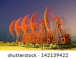 oil pumps. oil industry... | Shutterstock . vector #142139422