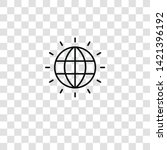 worldwide icon from  collection ... | Shutterstock .eps vector #1421396192