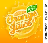 vector logo for orange juice on ... | Shutterstock .eps vector #1421398205