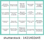 set of 20 vector quotes about... | Shutterstock .eps vector #1421402645