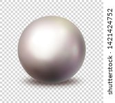pearl. realistic single 3d... | Shutterstock .eps vector #1421424752