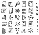 checklist icons set. outline... | Shutterstock .eps vector #1421439218