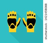 kayak gloves icon. flat... | Shutterstock .eps vector #1421458088