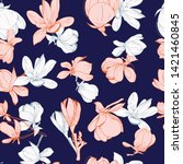 hand drawn floral pattern of... | Shutterstock . vector #1421460845