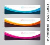 vector abstract web banner... | Shutterstock .eps vector #1421462585