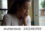 beautiful young girl. young...   Shutterstock . vector #1421481905