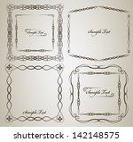 vintage frame vector set with... | Shutterstock .eps vector #142148575