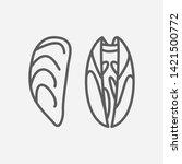 mussel icon line symbol....
