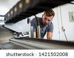 young engineer setup plasma...   Shutterstock . vector #1421502008