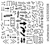 set of vector doodle drawing...   Shutterstock .eps vector #1421505338