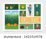 flat family outdoor recreation... | Shutterstock .eps vector #1421514578
