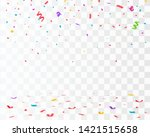 confetti isolated. falling... | Shutterstock .eps vector #1421515658