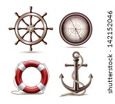 adventure,anchor,anchorage,anchored,brown,coast,compass,cruise,equipment,explore,helm,help,hook,icon,instrument