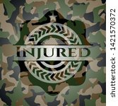injured on camo pattern. vector ...   Shutterstock .eps vector #1421570372