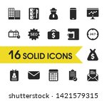 trade icons set with business...