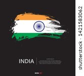flag of india with  brush... | Shutterstock .eps vector #1421583062