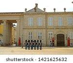 danish royal guards changing... | Shutterstock . vector #1421625632