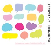 hand drawn set of colorful... | Shutterstock .eps vector #1421626175
