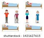 vector illustration set of... | Shutterstock .eps vector #1421627615