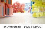 abstract white and colored... | Shutterstock . vector #1421643902