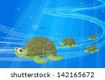 Illustration Of The Turtles...