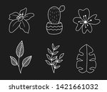 vector set of handdrawn doodle... | Shutterstock .eps vector #1421661032