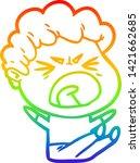 rainbow gradient line drawing... | Shutterstock .eps vector #1421662685
