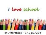 color pencils isolated on white | Shutterstock . vector #142167295