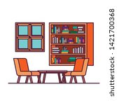 living room with couch and... | Shutterstock .eps vector #1421700368
