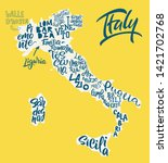 Silhouette Of The Map Of Italy...