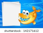 illustration of a fish with... | Shutterstock . vector #142171612