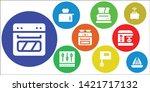 blender icon set. 9 filled... | Shutterstock .eps vector #1421717132