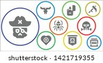 death icon set. 9 filled death...   Shutterstock .eps vector #1421719355