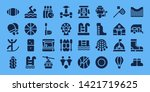 recreation icon set. 32 filled... | Shutterstock .eps vector #1421719625