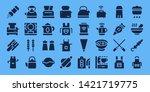 preparation icon set. 32 filled ... | Shutterstock .eps vector #1421719775