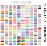 pastel colors set with hex...   Shutterstock .eps vector #1421745542
