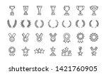 awards line art icons set...   Shutterstock .eps vector #1421760905