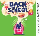 back to school illustration ... | Shutterstock .eps vector #1421762405