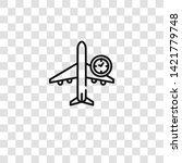 flight time icon from aviation...   Shutterstock .eps vector #1421779748