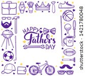 fathers day template. happy... | Shutterstock .eps vector #1421780048