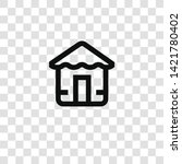 beach house icon from... | Shutterstock .eps vector #1421780402