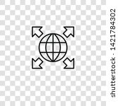 worldwide icon from  collection ... | Shutterstock .eps vector #1421784302