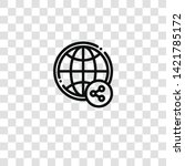 worldwide icon from  collection ... | Shutterstock .eps vector #1421785172