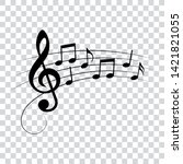 music notes  symbols  isolated  ... | Shutterstock .eps vector #1421821055