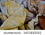 pile of clothes. closedup of...   Shutterstock . vector #1421833352