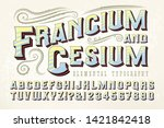 francium   cesium is an ornate... | Shutterstock .eps vector #1421842418